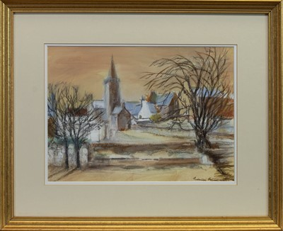 Lot 436 - WINTER EVENING, WHITHORN, A MIXED MEDIA BY THERESA FLYNN