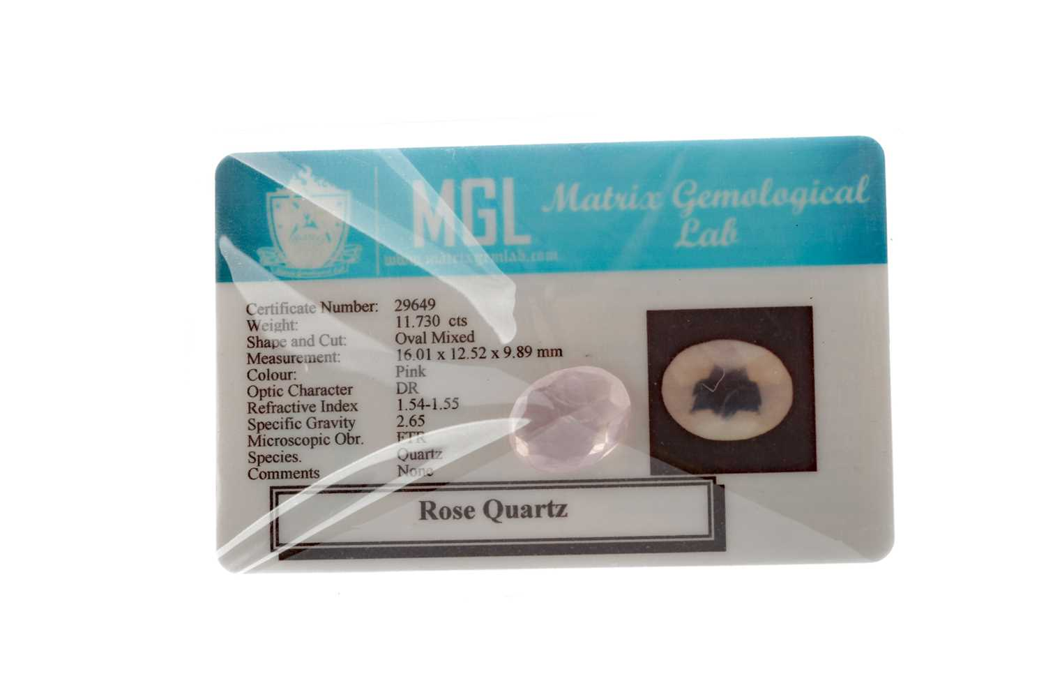 Lot 339 - AN UNMOUNTED ROSE QUARTZ