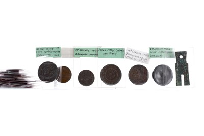 Lot 36 - A SMALL COLLECTION OF TOWN PENNY TOKENS