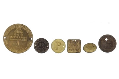 Lot 1313 - A GROUP OF CHIEFLY 19TH CENTURY COLLIERY TOKENS