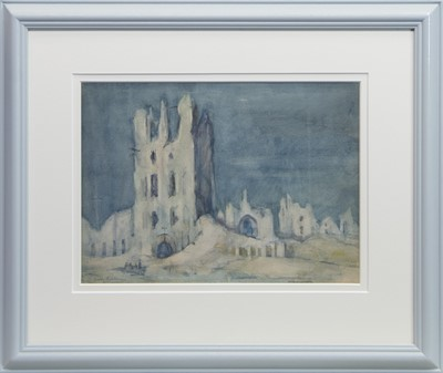 Lot 87 - THE CLOTH HALL, YPRES, A WATERCOLOUR BY EMILY PATERSON
