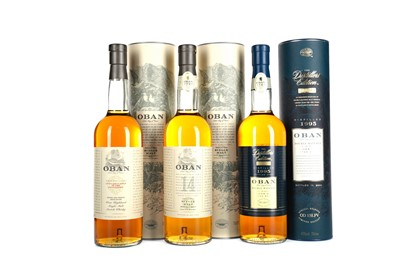Lot 228 - OBAN 1995 DISTILLERS EDITION, DISTILLERY EXCLUSIVE  AND 14 YEARS OLD