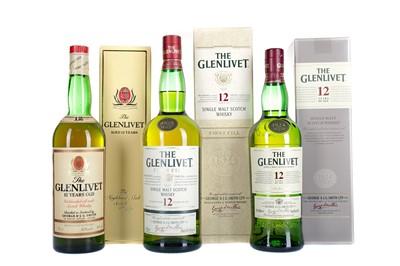 Lot 236 - THREE BOTTLES OF GLENLIVET 12 YEARS OLD