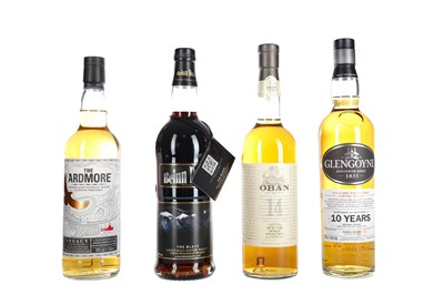 Lot 237 - OBAN AGED 14 YEARS, GLENGOYNE AGED 10 YEARS, ARDMORE TRADITIONAL AND BEINN DUDH