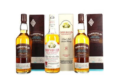 Lot 239 - TAMNAVULIN-GLENLIVET AGED 10 YEARS AND TWO BOTTLES OF TAMNAVULIN DOUBLE CASK