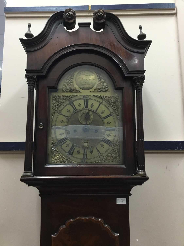 Lot 1717 - A GEORGE III MAHOGANY LONGCASE CLOCK