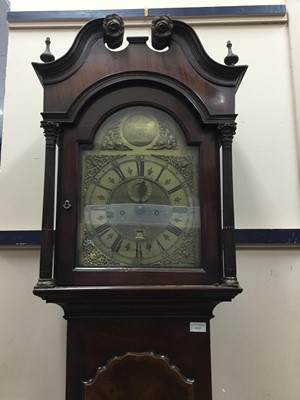 Lot 1717 - A GEORGE III MAHOGANY LONGCASE CLOCK
