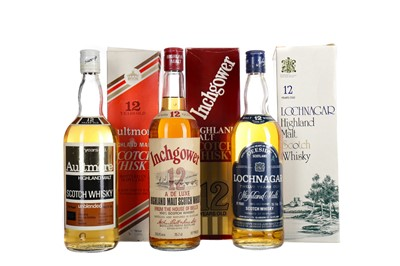 Lot 254 - INCHGOWER 12 YEARS OLD, AULTMORE 12 YEARS OLD AND LOCHNAGAR 12 YEARS OLD