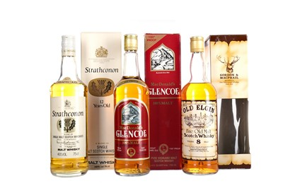Lot 257 - STRATHCONON 12 YEARS OLD, MACDONALD'S GLENCOE AND OLD ELGIN 8 YEARS OLD