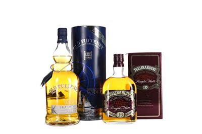 Lot 259 - OLD PULTENEY ISABELLA FORTUNA WK499 ONE LITRE AND TULLIBARDINE AGED 10 YEARS