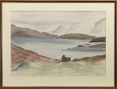 Lot 443 - FEARNBEG, A COLOURED PENCIL BY STEWART CARMICHAEL