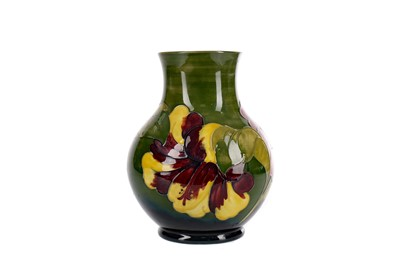 Lot 1031 - A MOORCROFT 'HIBISCUS' PATTERN VASE