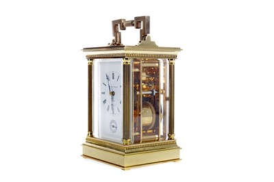 Lot 1718 - A REPEATER CARRIAGE CLOCK