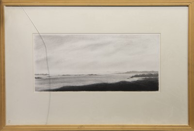 Lot 444 - LOCH TARBERT, A LITHOGRAPH BY JAMES CAMPBELL BRADY