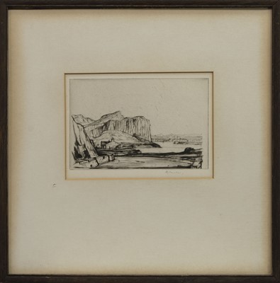 Lot 447 - KERRERA, AN ETCHING BY D Y CAMERON