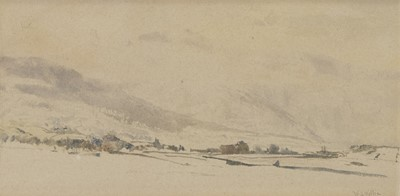 Lot 92 - COL DU JAMAN, A WATERCOLOUR BY WILLIAM WYLLIE
