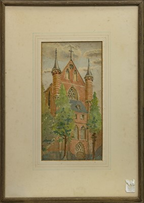 Lot 450 - CHURCH BELLS, A WATERCOLOUR