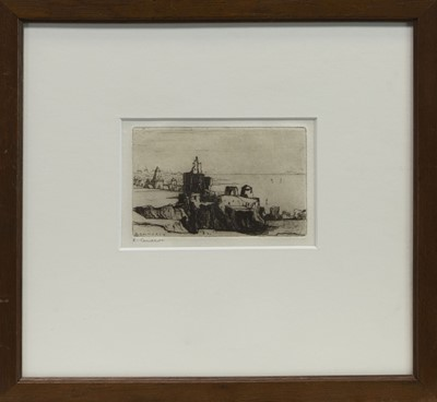 Lot 451 - ST MONANS, AN ETCHING BY KATE CAMERON
