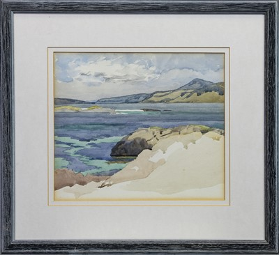 Lot 445 - WEST COAST LANDSCAPE, A SCOTTISH WATERCOLOUR