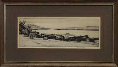 Lot 457 - THE LOCH, AN ETCHING BY MATHEW HENDERSON