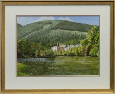 Lot 462 - THE TAY- DUNKELD, A WATERCOLOUR BY CHARLES LITTLEWORTH