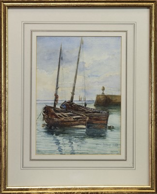 Lot 461 - HARBOUR SCENE, A WATERCOLOUR BY STIRLING PATERSON