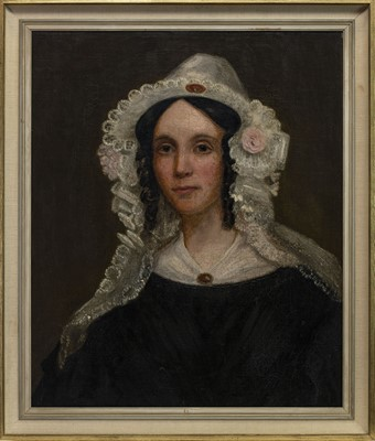 Lot 460 - PORTRAIT OF JANET HAY HUNTER, A 19TH CENTURY OIL