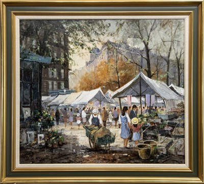 Lot 503 - THE MARKET, AN OIL BY REIN SIEVERS
