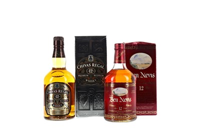 Lot 275 - DEW OF BEN NEVIS AGED 12 YEARS AND CHIVAS REGAL AGED 12 YEARS