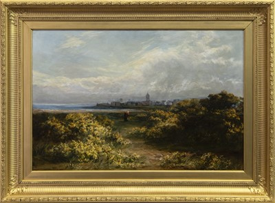 Lot 97 - ST ANDREWS FROM THE LINKS, AN OIL BY JOHN PEDDER