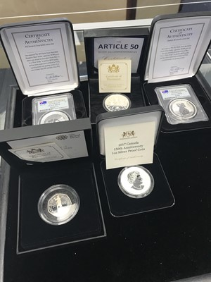 Lot 4 - A COLLECTION OF SILVER AND OTHER COINS