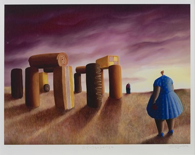 Lot 469 - SPONGEHENGE, A PRINT BY SARAH JANE SZIKORA