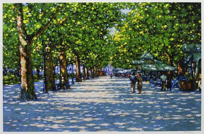 Lot 470 - THE AVENUE, MONTPELLIER, A PRINT BY JOHN MACKIE