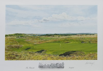 Lot 471 - MUIRFIELD 13TH HOLE, A PRINT BY BILL WAUGH