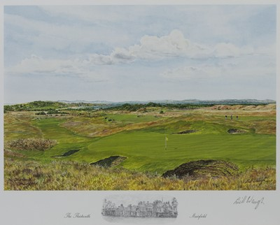 Lot 477 - MUIRFIELD 13TH HOLE, A PRINT BY BILL WAUGH