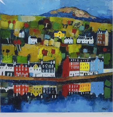 Lot 480 - TOBERMORY, MULL, A PRINT BY ROB HAIN