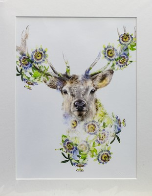 Lot 484 - STAG, A PRINT BY LOLA DESIGNS