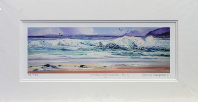 Lot 486 - WAVES CRASHING. MULL, A PRINT BY DANIEL CAMPBELL