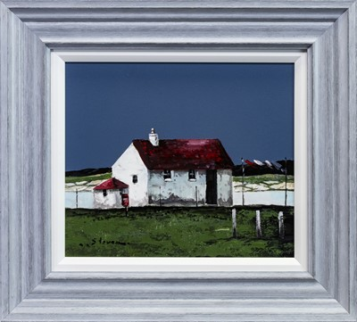 Lot 494 - RED ROOF, AN OIL BY STEVEN