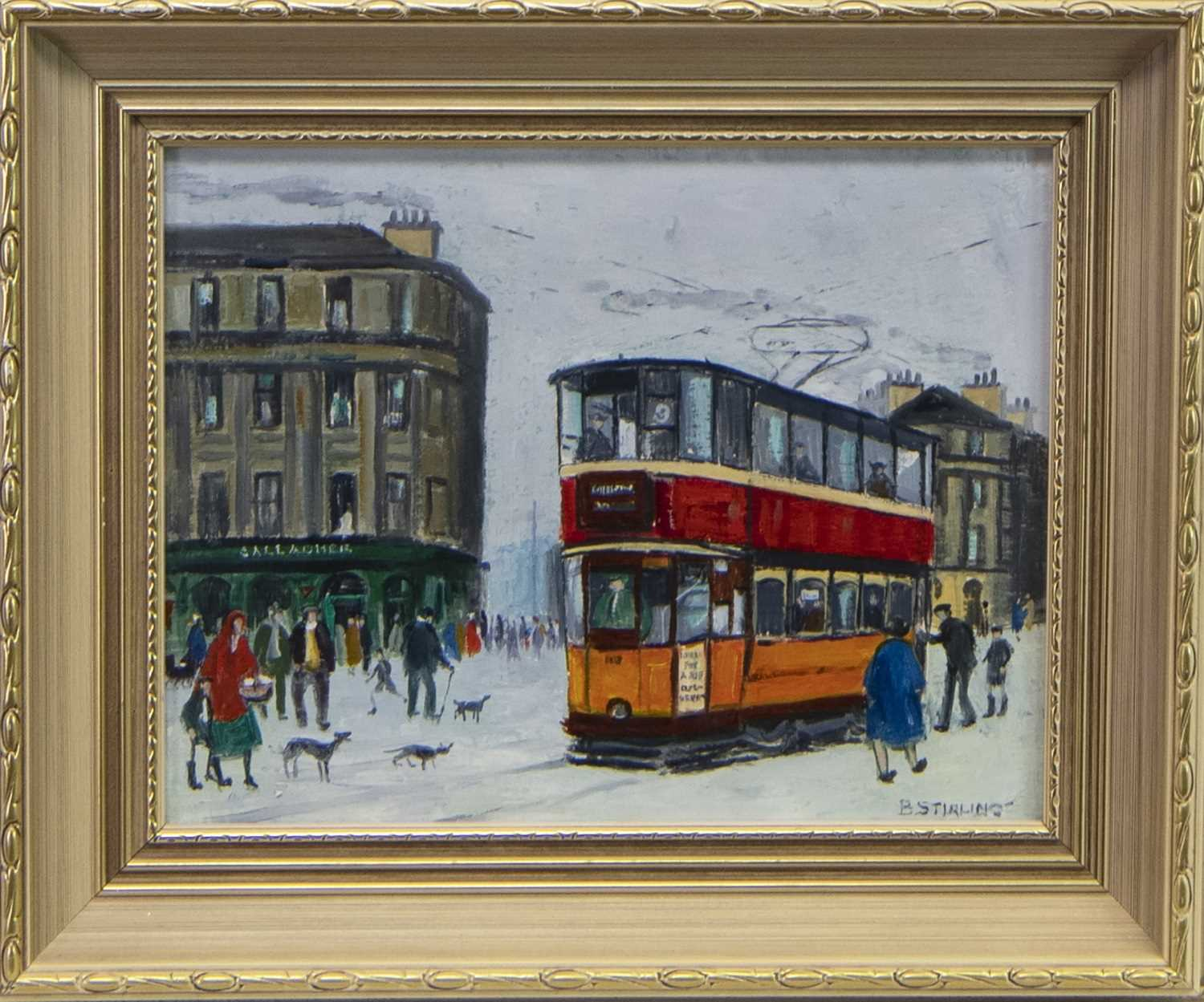 Lot 550 - MINERVA STREET, AN OIL BY BETTY STIRLING