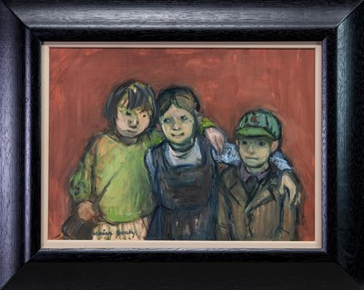 Lot 543 - BIG SISTERS, AN OIL BY MOIRA BEATY