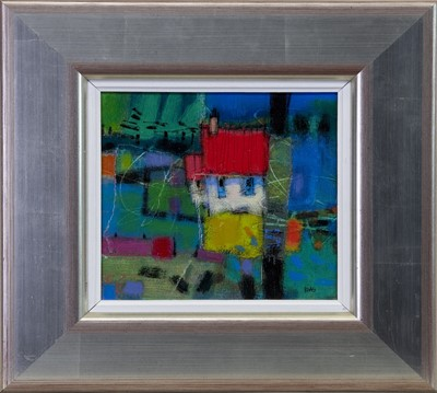 Lot 547 - BLUE VIEW, A MIXED MEDIA BY FRANCIS BOAG
