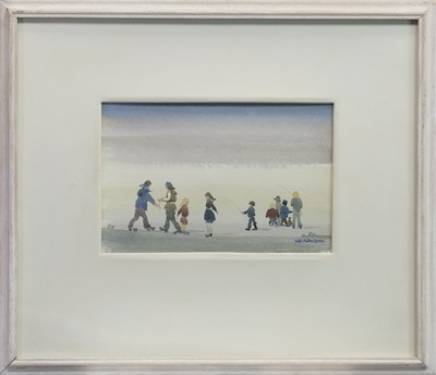 Lot 495 - THE LITTLE POACHERS, A WATERCOLOUR BY SYBIL MULLEN GLOVER
