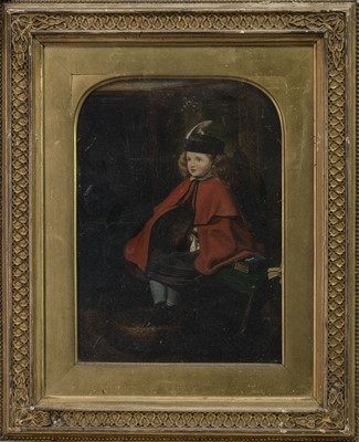 Lot 499 - OIL PORTRAIT OF A BOY