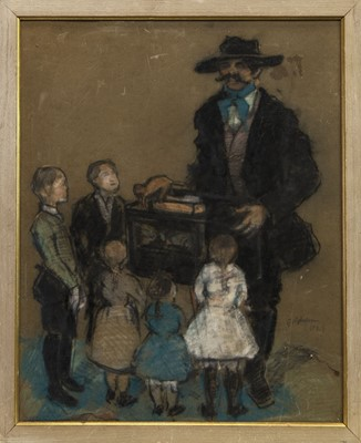 Lot 505 - THE STREET ORGAN, A PASTEL