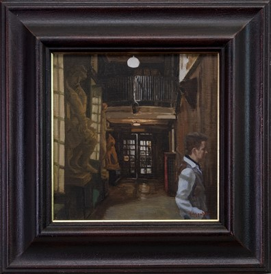 Lot 566 - LIGHT INSIDE THE MACK, AN OIL BY ANDREW FITZPATRICK