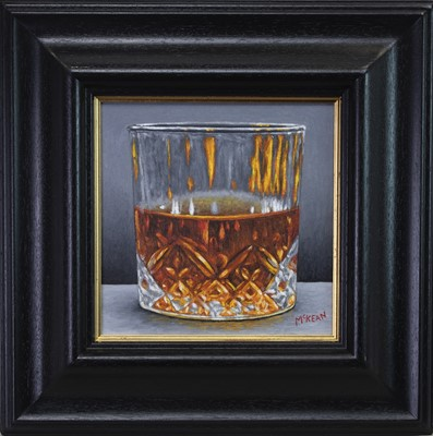Lot 583 - SCOTTISH FIRE WATER STUDY, AN OIL BY GRAHAM MCKEAN
