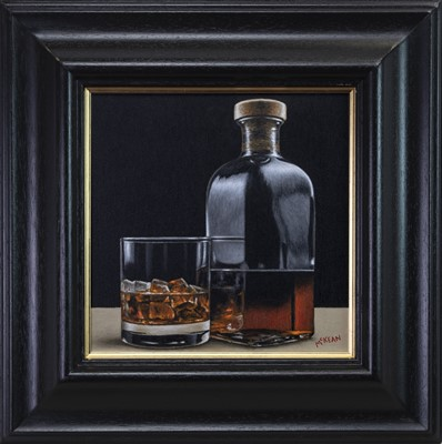 Lot 580 - A LATE NIGHT DRAM, AN OIL BY GRAHAM MCKEAN