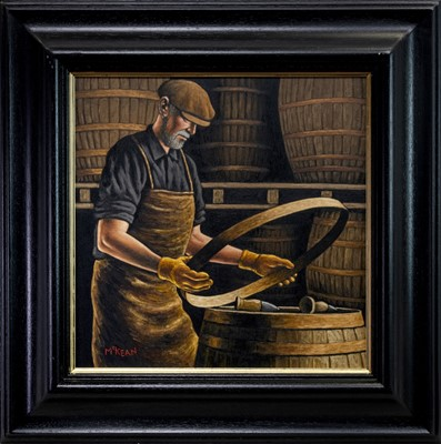 Lot 570 - MASTER COOPER AT WORK, AN OIL BY GRAHAM MCKEAN