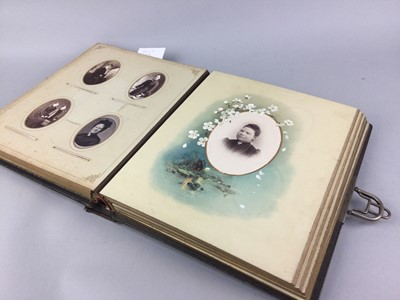 Lot 58 - AN EARLY 20TH CENTURY ALBUM OF POSTCARD PHOTOGRAPHS
